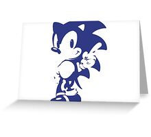 Minimalist Sonic 9 Greeting Card
