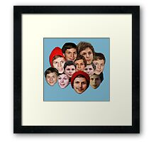 Michael Cera Collection Framed Print