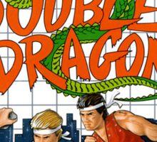 Double Dragon Master System Sega Box cover Sticker