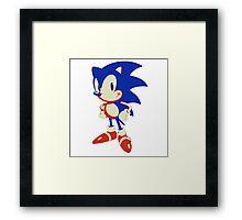 Minimalist Sonic 10 Framed Print