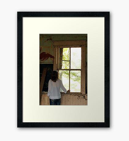 Big Old Window Framed Print