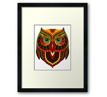 Awesome Owl Pattern 1 Framed Print