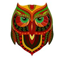 Awesome Owl Pattern 1 Photographic Print
