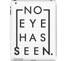 NO EYE HAS SEEN RECTANGLE  iPad Case/Skin