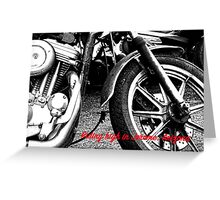 RIDING HIGH IN JEROME (CARD) Greeting Card
