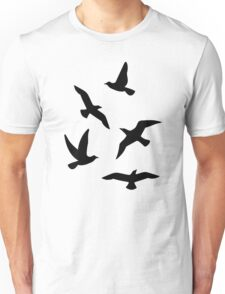 Black birds Unisex T-Shirt