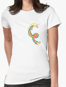 Twirl me Lady Rainicorn Womens Fitted T-Shirt