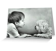 Puppy Kisses Greeting Card