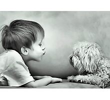Puppy Kisses Photographic Print
