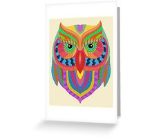 Awesome Owl Pattern 2 Greeting Card
