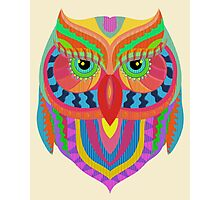 Awesome Owl Pattern 2 Photographic Print