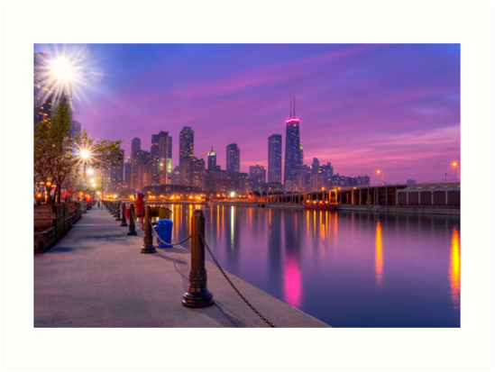 City Dreams - Chicago Skyline at Sunset by Mark Tisdale