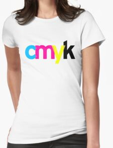 c m y k Womens Fitted T-Shirt