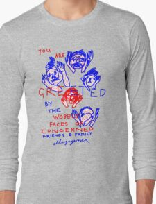 """'Greetings from the Wobbly Faces of Concern"""" T-Shirt"""