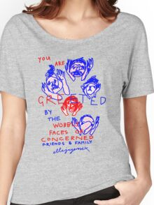 """'Greetings from the Wobbly Faces of Concern"""" Women's Relaxed Fit T-Shirt"""