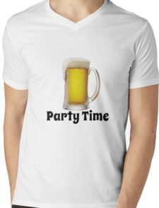 party time Mens V-Neck T-Shirt