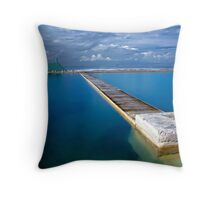 Blue Baths Throw Pillow