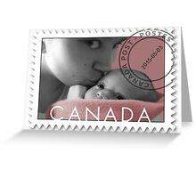 KISSES OF LOVE TO MY SWEET BABY OF MINE-CANADIAN STAMP OF LOVE Greeting Card