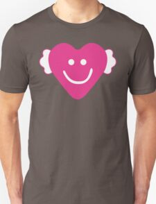 Cute Candy Heart - Grey and Pink Unisex T-Shirt