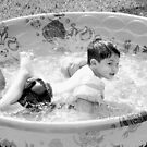 Swimming Pool Fun by Wanda Raines
