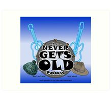 The Never Gets Old Logo music and adventure Art Print