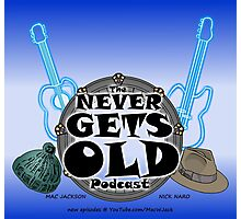 The Never Gets Old Logo music and adventure Photographic Print
