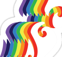 Rainbow NZ (for dark colours) Sticker