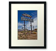 Road Runner Resturant Framed Print