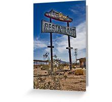 Road Runner Resturant Greeting Card