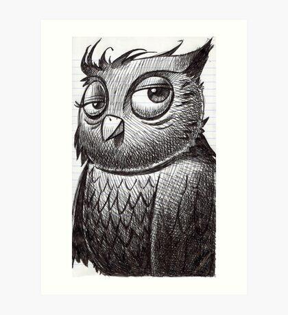 Owl O'brian Art Print