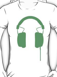 Green Headphones T-Shirt