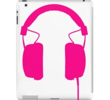 Pink Headphones iPad Case/Skin