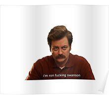 Ron fucking Swanson Poster