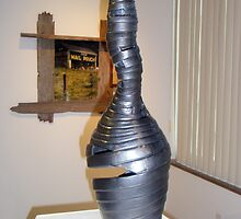 """""""Bound"""" side view Sculpture,  (Full size 30"""" H x 23"""" R) by sonia neira-matthews"""