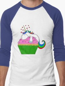 Unicorn Cupcake Men's Baseball ¾ T-Shirt