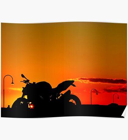 Streetfighter Sunset Poster