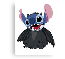 Stitch wearing a Toothless Onsie Canvas Print