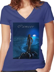 Cancer Women's Fitted V-Neck T-Shirt