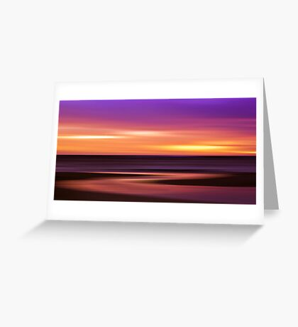 Slow Motion - abstract sunset Greeting Card