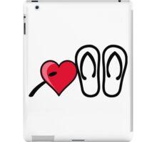 I heart I love flip flops sandals iPad Case/Skin
