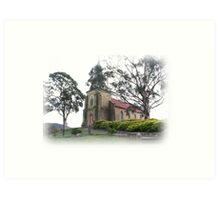St. John Catholic Church - Richmond Tasmania - 1835. Art Print