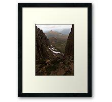 Residual Snow Framed Print