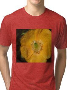 Welsh Poppy Macro Tri-blend T-Shirt