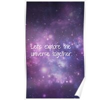 Let's Explore the Universe Together Poster