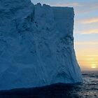 Iceberg sunset by Mike Gregory