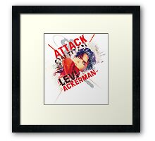 Levi Ackerman - Slash Framed Print