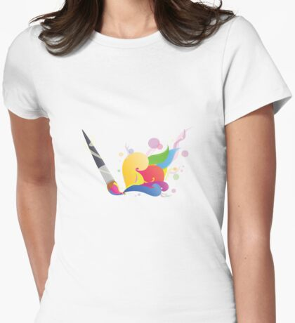 Let us paint Womens Fitted T-Shirt