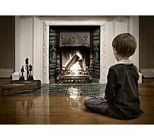 Watching the Fire... Photographic Print