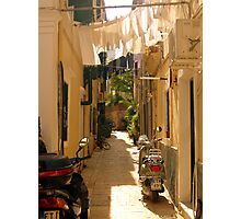 Moped Alley Photographic Print