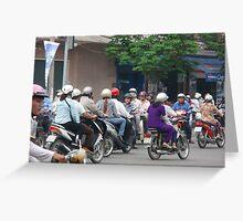 Ho Chi Minh City Traffic Greeting Card